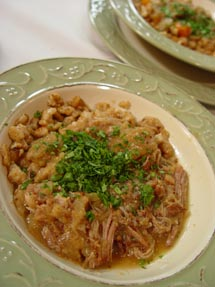 Apple Braised Pork with Whole Wheat Spatzle