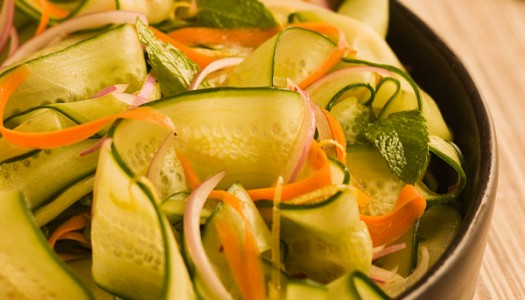 Asian Cucumber Mint Salad