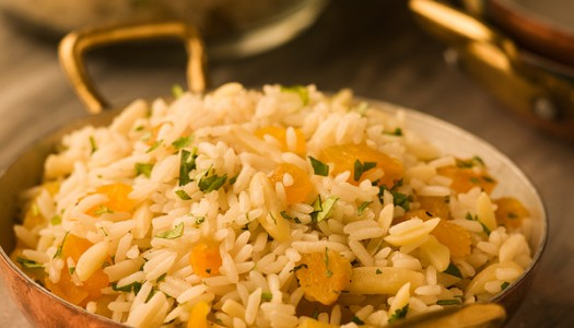 Rice Pilaf with Almonds & Apricots