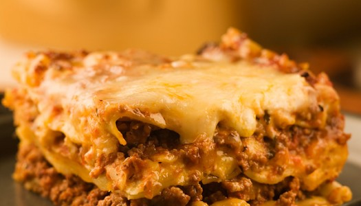 Lasagna with Speedy Meat Sauce