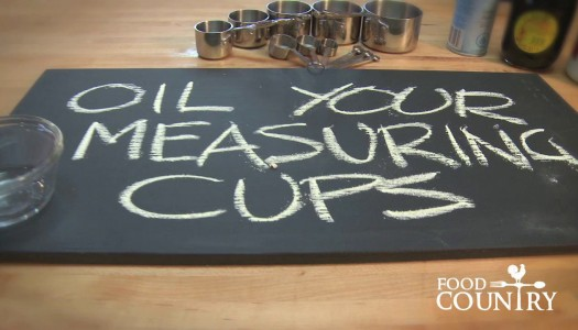 Oil Your Measuring Cups