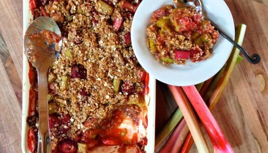 Strawberry Rhubarb Oatmeal Jumble