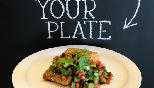 Cornmeal Crusted Salmon with Kiwi Salsa