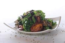 Arugula Eggplant Salad with Balsamic Vinaigrette