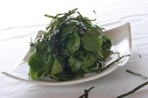 Asian Spinach Salad with Miso Ginger Vinaigrette