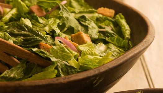 Caesar Salad with Basil
