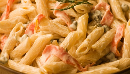 Penne with Smoked Salmon & Cream Cheese Sauce