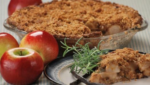 Whole Grain Rosemary Apple Pie