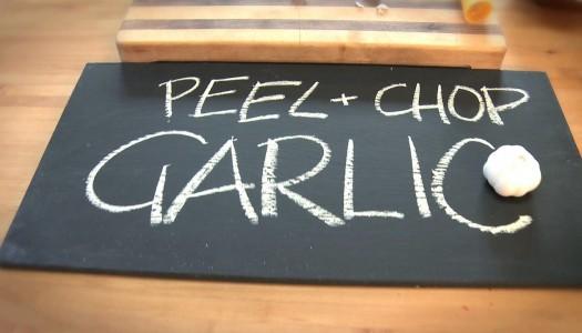 Peel and Chop Garlic