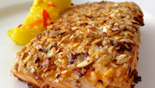 Maple Mustard Oat-Crusted Salmon